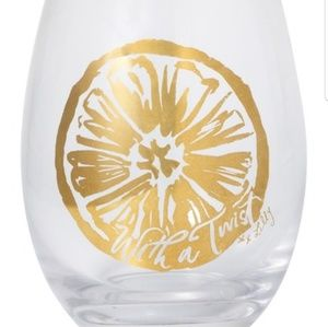 New In Box! Lilly Pulitzer Stemless wine Glass Set